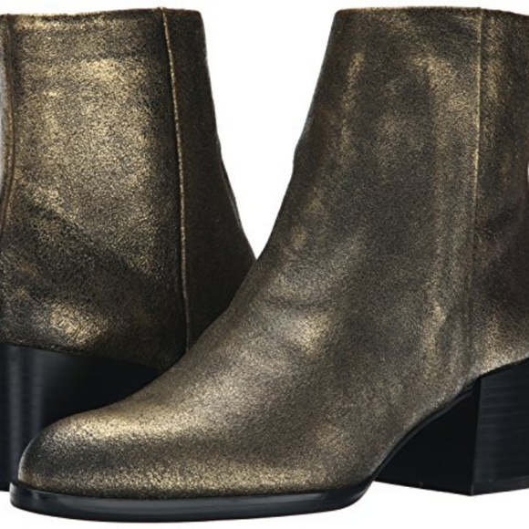 5a3f1adfb Sam Edelman Joey Gold Leather Boots